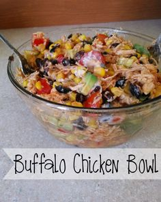 Clean Eating Meals This Buffalo Chicken Bowl is delicious, Healthy and you feel great about eating it. This no guilt lunch or dinner is also 21 Day Fix Approved. Fixate Recipes, New Recipes, Cooking Recipes, Healthy Recipes, Turkey Recipes, 21 Day Fix Recipies, Advocare Recipes, Cooking Ribs, Cleanse Recipes