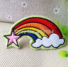 Frete Grátis ~ bordado RAINBOW Iron On ou Sew On patch emblema Applique em Apliques de Roupas & acessórios no AliExpress.com | Alibaba Group