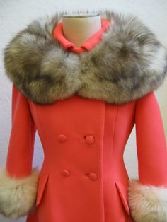 Hey, I found this really awesome Etsy listing at https://www.etsy.com/listing/184868523/1960s-coral-lilli-ann-fox-fur-coat-sz-s