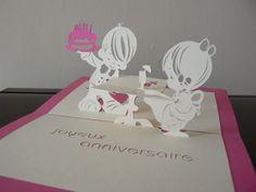 #lasercut #troquel #encuny [Chantal's CrazyCards: Cartes kirigami à 180°] Kirigami, Paper Art, Paper Crafts, Tarjetas Pop Up, Baby Dolls, Illustration, Doodles, Wood Cutting, Cutting Files