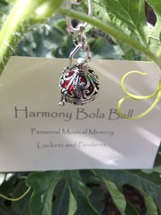 Harmony Ball,Bola,Locket Necklace,Angel Chimes Locket,Beautiful Jewelry,Personalized Musical Memory,SHIPS from California,FREE Gift Wrapping by oldredmaredesigns on Etsy