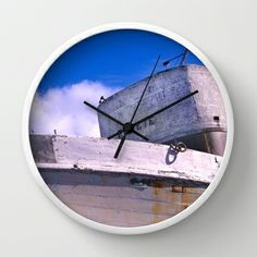 Popeye's Boat Wall Clock by Bruce Stanfield - $30.00 Wall Clocks, Boat, Home Decor, Dinghy, Decoration Home, Room Decor, Boats, Clock Wall, Interior Decorating