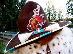 Beaded Hat Bands, Horse Gear, Cowgirl Hats, Native American Beadwork, Beaded Animals, Bead Art, Beaded Embroidery, Rodeo, Art Museum