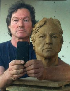 Rudolf self portrait clay bust