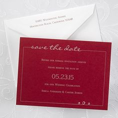 Tailored Horizontal Save the Date Card - Claret 40% OFF  |  http://mediaplus.carlsoncraft.com/Wedding/Save-the-Dates/NB-NB1763H-Tailored-Horizontal--Save-the-Date-Card--Claret.pro?pvc=&qty=0  |  NB1763H Tailor this claret card to reflect your style by selecting one of the many design options available.