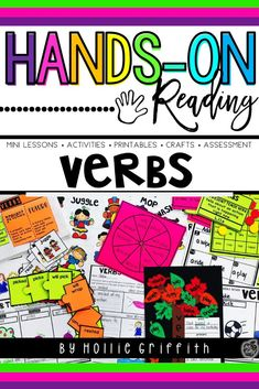 Teach students to use verbs to convey a sense of past, present, and future with this engaging hands-on resource. This bundle includes eight days of mini lessons, anchor charts, class games, interactive notebook pages, task cards, a craft, and a quick assessment. This is a complete hands-on mini unit that will add fun and excitement to your classroom. #HollieGriffithTeaches #ClassroomFun #1stGrade #TeacherResources