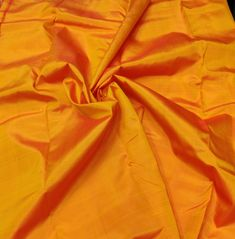 UT Orange Mulberry Silk Fabric/Iridescent/100% Pure Silk Fabric/Plain Silk Fabric made with handloom, Fabric by the yard. by TheSLVSilks on Etsy Dupioni Silk Fabric, Raw Silk Fabric, How To Dye Fabric, Cool Fabric, Natural Protein, Silk Bedding, Mulberry Silk, 100 Pure