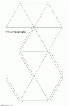 Net regular pentagonal dipyramid