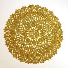 Double Pineapple Doily another potential Doilyghans or doily blanket
