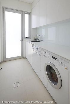 Classic Awning Window white decor clean look Laundry Nook, Small Laundry Rooms, Laundry Room Storage, Laundry In Bathroom, Compact Laundry, Kitchenette, Laundry Room Inspiration, Small Toilet, Window Awnings