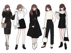Fashion Design Drawings, Fashion Sketches, Anime Outfits, Mode Outfits, Kleidung Design, Fashion Drawing Dresses, Drawing Anime Clothes, Cute Art Styles, Character Outfits