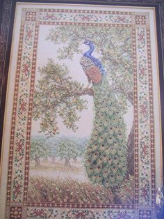 See Sally Sew-Patterns For Less - Peacock Tapestry Cross Stitch Teresa Wentzler Design Chart Pattern 112, $9.99 (http://stores.seesallysew.com/peacock-tapestry-cross-stitch-teresa-wentzler-design-chart-pattern-112/)