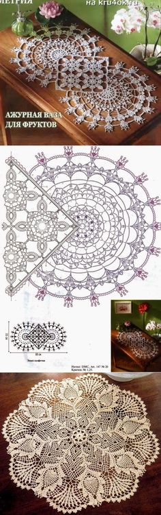 Crochet Circles, Crochet Doily Patterns, Crochet Squares, Crochet Motif, Crochet Doilies, Crochet Lion, Crochet Home, Filet Crochet, Irish Crochet