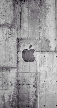 Apple Logo Concrete Wall iPhone Wallpaper – My Pin Page Iphone Logo, Apple Logo Wallpaper Iphone, Funny Phone Wallpaper, Iphone Background Wallpaper, Grey Wallpaper, Best Iphone Wallpapers, Mobile Wallpaper, Apple Logo White, Apple Background