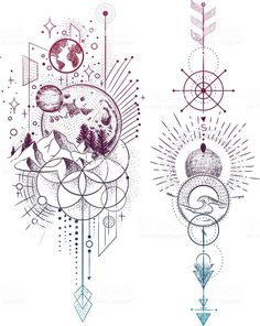 Tattoos moonlight tattoo geometric tattoo design geometric tattoo tattoo images symbolic tattoos vector illustration set of moon phases different stages of moonlight activity in vintage engrav tattoos Art And Illustration, Gravure Illustration, Vector Illustrations, Tattoo Drawings, Body Art Tattoos, Sleeve Tattoos, Art Drawings, Tattoo Sketches, Tatoos