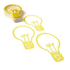 Bright Ideas Lightbulb Rubber Stamp Cling Rubber por creatiate