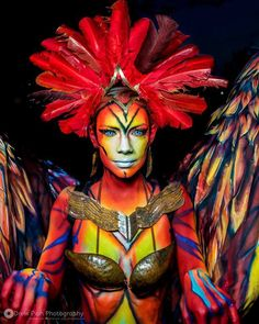 """""""The Living Surreal: Body as Canvas."""" by Melinda Abreu with Kryolan UV Aquacolor and SFX products #Kryolan #makeupisascience #bodypainting #SFX"""