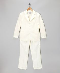 Take a look at this Ivory Two-Piece Suit Set - Boys by Lida on #zulily today!