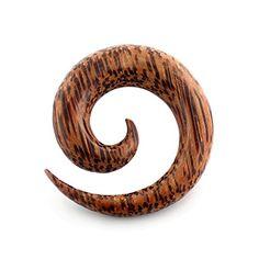 Solide natürliche organisch palme Holz Spirale verjüngt sich Ohr Plug - http://schmuckhaus.online/chennai-jewellery/solide-natuerliche-organisch-palme-holz-spirale