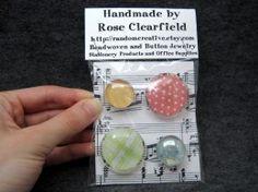 DIY glass magnets + packaging (for teacher appreciation brunch)