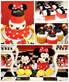 Mickey + Minnie Mouse Themed Birthday Party