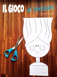 Il gioco del parrucchiere per imparare ad usare le forbici