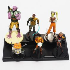6Pcs/Set New Star Wars Figure Anakin Skywalker Yoda Darth Sidious PVC Figures Toys 5~10cm