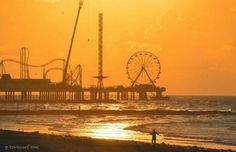 Visited here as a kid with parents, sibling, aunt and uncle. Galveston Beach Pier in Texas.