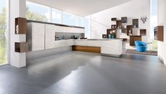 Ceramic is a finish that speaks of prestige and style.  A highly resistant material that is as hard-working in kitchens as it is in spacecraft.  Scratchproof, practically indestructible and, with its subtle variations, has a distinct charm. ALNOSTAR CERA is the new generation of kitchens.  Shown here in Consigo.