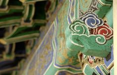 Woodwork in Mongolian Temple by Jerrold, via Flickr