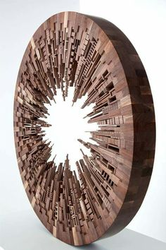 Wooden Cityscapes by artist James McNabb