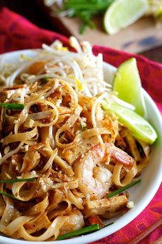 Get the recipe: shrimp pad Thai  Image Source: Recipe Tin Eats