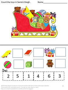 Motor Skills Activities, Fine Motor Skills, Math Activities, Math Skills, Kindergarten Special Education, Kindergarten Math Worksheets, Preschool Kindergarten, Christmas Math, Christmas Activities
