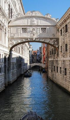 The Bridge of Sighs in Venice led to the city's jail. It got its name from the prisoners being led over it to be locked up: they would look out the windows, take their last look at the city they'd not see again, and sigh.