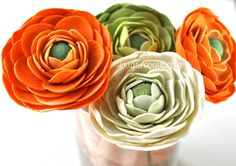 I Sugar Coat It!: Ranunculus Tutorial. Must be same thing with clay/plastic clay?! I love ranunculus!!