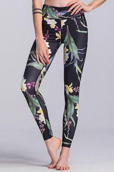 Floral Stretchy Tight Yoga Leggings