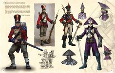 The Soldier concepts from Fable III. Character Concept, Concept Art, Character Design, Fantasy Inspiration, Story Inspiration, Fable 2, Dnd Stories, Steampunk, Fantasy Creatures