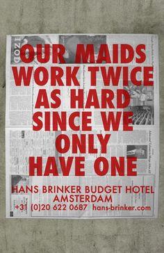 Resultat d'imatges de budget hotel advertising