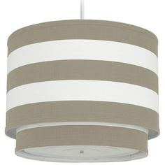 Oilo Pendant Lighting Striped Taupe Cylinder Double OISTRDCT
