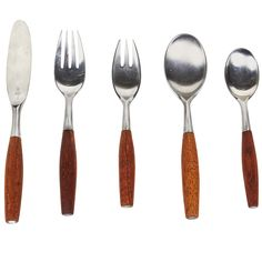 Fjord Five Piece Flatware Set by Jens Quistgaard | From a unique collection of antique and modern tableware at http://www.1stdibs.com/furniture/dining-entertaining/tableware/