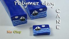 DIY how to make landscape canes out of polymer clay - tutorial Murrina p...