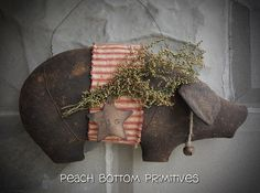 ePatternPrimitive Piggy Wall Hanger Sewing by PrimsbyDenise