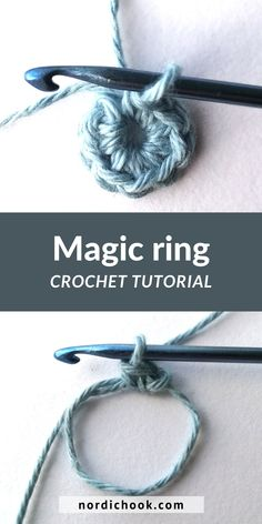 This free crochet tutorial shows how to make a magic ring (or adjustable ring, magic circle) step by step (in English or Spanish, US terms). It includes clear photo instructions and suits for beginners. Beginner Crochet Tutorial, Crochet Stitches For Beginners, Step By Step Crochet, Beginner Crochet Projects, Crochet Instructions, Crochet Basics, Magic Circle Crochet, Magic Ring Crochet, Crochet Rings