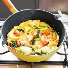 えびと青梗菜の卵炒め