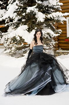Black Blue Non White Gothic Wedding Dresses Princess Winter Ball Gown Formal Bridal Gowns With Color Strapless Simple White Wedding Gowns, 2016 Wedding Dresses, Colored Wedding Dresses, Bridesmaid Dresses, Dresses 2016, Dresses Uk, White Weddings, Indian Weddings, Elegant Winter Wedding