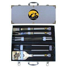Iowa Hawkeyes NCAA 8pc BBQ Tools Set
