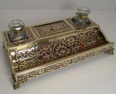Antiques Atlas - Antique French Boulle Inkstand C.1830