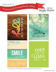 Free Printable from Simple Stories for National Scrapbook Day 2014. Click on the picture to go to the post with the download.