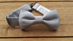 Hey, I found this really awesome Etsy listing at https://www.etsy.com/listing/256777964/baby-bow-tie-0-12-months-light-grey