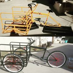 Well, isn't that handy? One of our handyman Dipheads dipped his cargo bike! Next step: racing stripes.